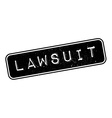 Lawsuit rubber stamp vector image