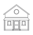 familiy house countryside outline vector image
