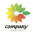 logo colorful plants vector image