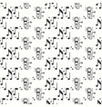 Karaoke seamless pattern microphone and notes vector image