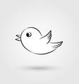 Bird icon with shadow vector image