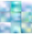 Set of blurred glowing pale blue backgrounds vector image vector image