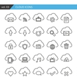 Modern line cloud icons set Premium quality vector image