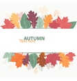 Autumn design with colorful bright leaves vector image