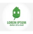 green house eco symbol vector image