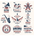 Music Retro Style Emblems vector image