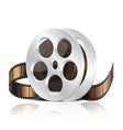 object film reel vector image