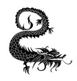paper cut out of a dragon china zodiac symbols vector image