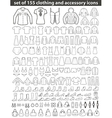 Set of Line Clothing Icons vector image
