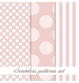 Set Seamless polka dot vintage pattern vector image