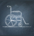 wheelchair sketch on chalkboard vector image