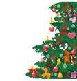 Christmas tree with accessories vector image vector image