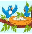 an angry male birds found in the egg crocodile vector image vector image