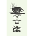 cup of coffee man vector image