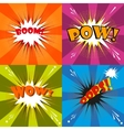 Comic speech bubble cartoon vector image