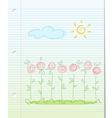 Summer garden floral background vector image vector image