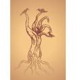 Dead Tree Sketch2 vector image