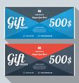 Gift Voucher Design Print Template Discount Card vector image