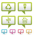 environment web icons vector image