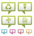 environment web icons vector image vector image