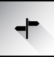 Direction sign with blank spaces for text vector image
