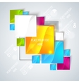 Abstract glossy geometric background vector image vector image