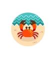 Crab icon Summer Vacation vector image