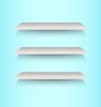Book shelves on blue background vector image