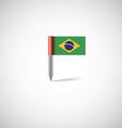 brazil flag pin vector image