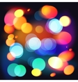 Bright colorful bokeh abstract background vector image