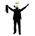 businessman with the idea silhouette vector image