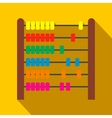 Colorful children abacus flat icon vector image