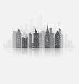 Fog city copy vector image