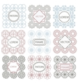 Isolated geometric ornament pattern vector image
