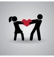Love and Relationship Stickmans vector image