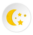 night view from a window icon circle vector image