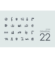 Set of dismissal icons vector image