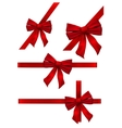 Several bow decoration vector image