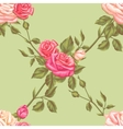 Seamless pattern with vintage roses Decorative vector image vector image