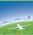 beijing skyline flight destination vector image