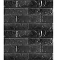 seamless pattern of black brick wall vector image