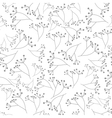 gray floral seamless pattern vector image vector image