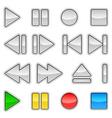 volume audio chrome signs vector image