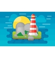 Lighthouse on the island vector image