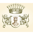 Vintage Coat of Arms vector image