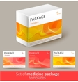Set of medicine package design with 3d-template vector image