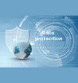 abstract background world data protection theme vector image