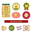 Apple Jam Jar And Labels vector image