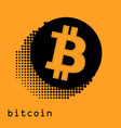 bitcoin gold coin of crypto currency isolated on vector image