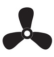 fan icon on white background fan sign vector image